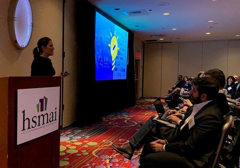 Jennifer Andre speaking at HSMAI