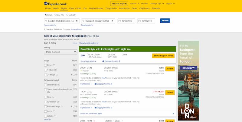 London City Airport digital marketing example