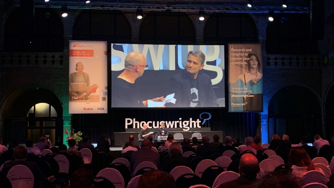 Cyril Ranque on stage at Phocuswright Europe