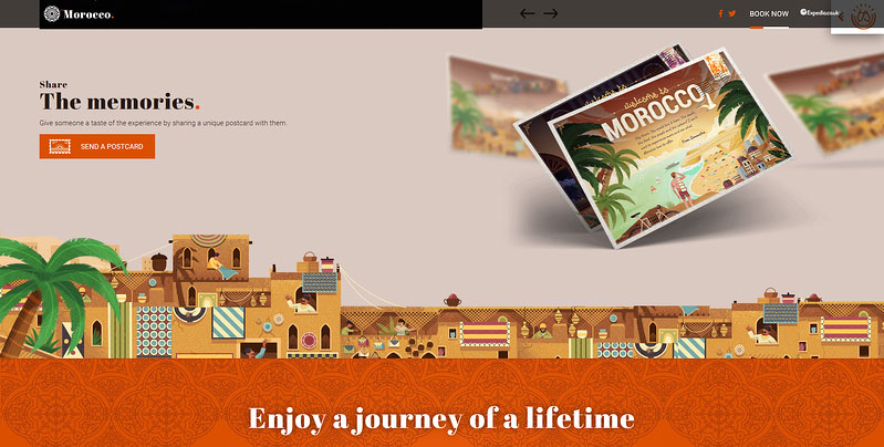 Moments in Morocco personalised postcard