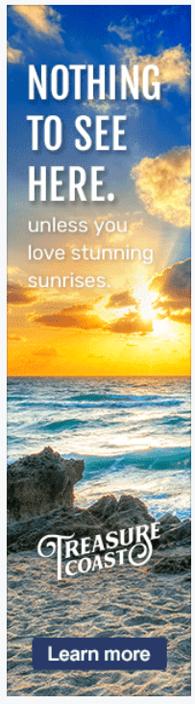 Creative Travel Advertising Treasure Coast example of pandemic ad creative